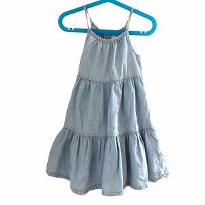 Girls 4T Old Navy Tiered Denim Dress